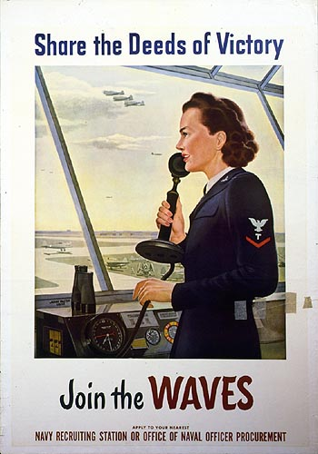 WAVE recruitment poster in air traffic control tower