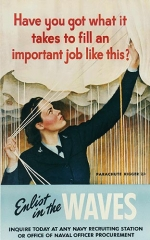 Recruitment poster for parachute riggers
